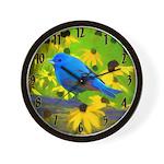 Indigo Bunting Wall Clock