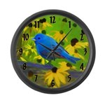 Indigo Bunting Large Wall Clock