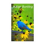 Indigo Bunting Sticker (Rectangle)