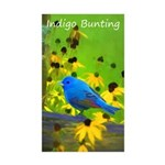 Indigo Bunting Sticker (Rectangle 50 pk)