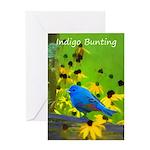Indigo Bunting Greeting Card