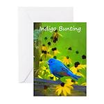Indigo Bunting Greeting Cards (Pk of 10)