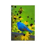 Indigo Bunting Rectangle Magnet (100 pack)