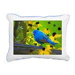 Indigo Bunting Rectangular Canvas Pillow