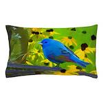 Indigo Bunting Pillow Case