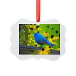 Indigo Bunting Picture Ornament
