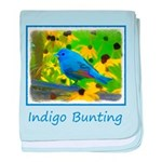 Indigo Bunting baby blanket