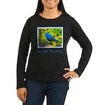 Indigo Bunting Women's Long Sleeve Dark T-Shirt