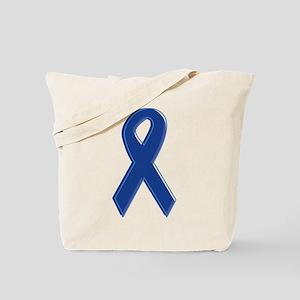 Dk Blue Awareness Ribbon Tote Bag