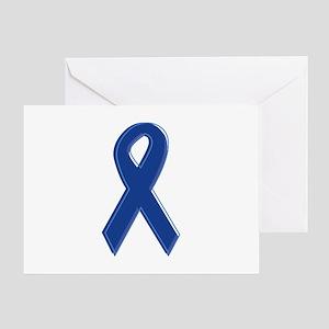 Dk Blue Awareness Ribbon Greeting Card