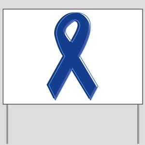 Dk Blue Awareness Ribbon Yard Sign