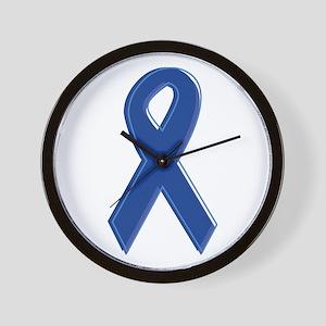 Dk Blue Awareness Ribbon Wall Clock