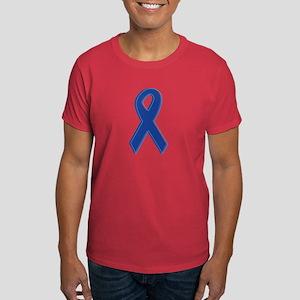 Dk Blue Awareness Ribbon Dark T-Shirt