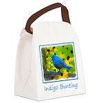 Indigo Bunting Canvas Lunch Bag