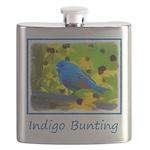 Indigo Bunting Flask