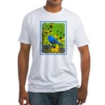 Indigo Bunting Fitted T-Shirt