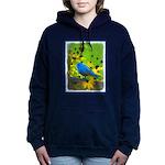 Indigo Bunting Women's Hooded Sweatshirt