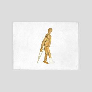 UsingCrutches031910 5'x7'Area Rug