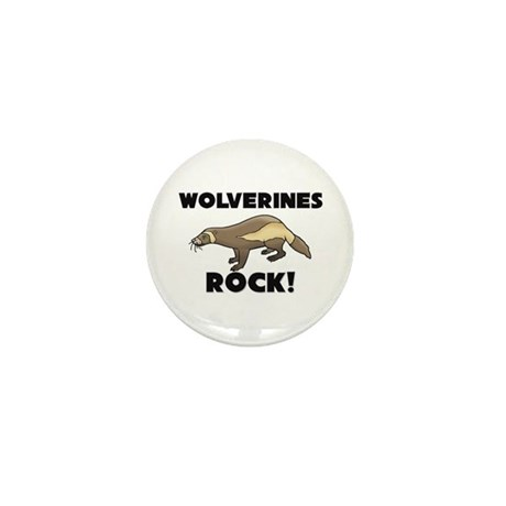 Wolverines Rock! Mini Button (10 pack)