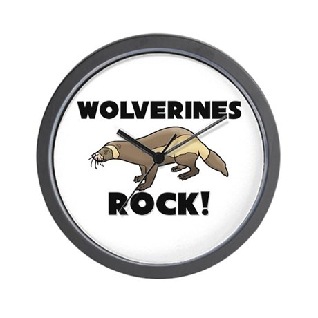 Wolverines Rock! Wall Clock
