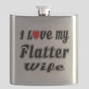 I Love My FLATTER Wife Flask