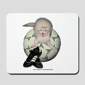 Soccer Ferret Mousepad