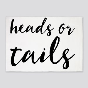 heads or tails 5'x7'Area Rug
