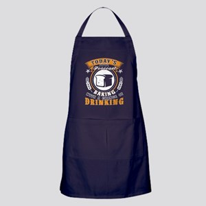 Baking With A Chance Of Drinking T Sh Apron (dark)