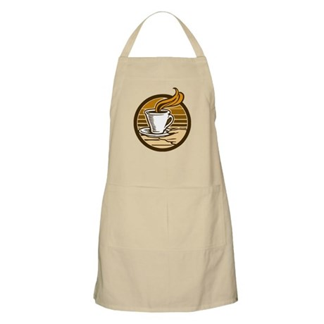 Steaming Coffee BBQ Apron