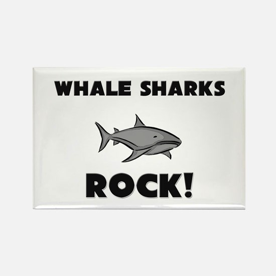 Whale Sharks Rock! Rectangle Magnet