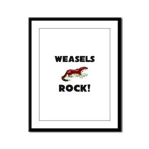 Weasels Rock! Framed Panel Print