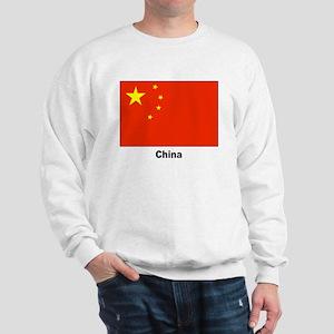 China Chinese Flag (Front) Sweatshirt