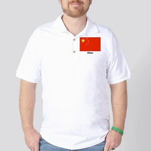 China Chinese Flag Golf Shirt