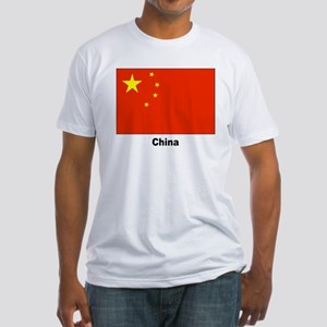 China Chinese Flag (Front) Fitted T-Shirt
