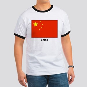 China Chinese Flag (Front) Ringer T