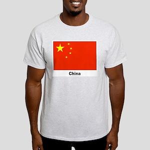 China Chinese Flag (Front) Ash Grey T-Shirt