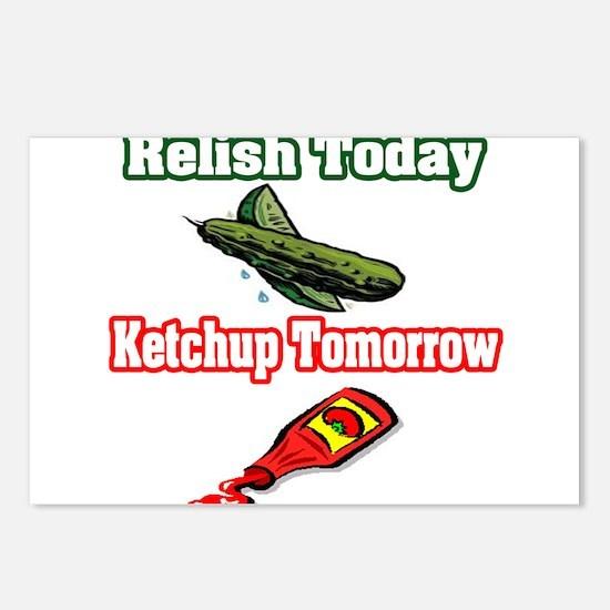 """Relish Today, Ketchup Tomorrow"" Postcards (Packag"