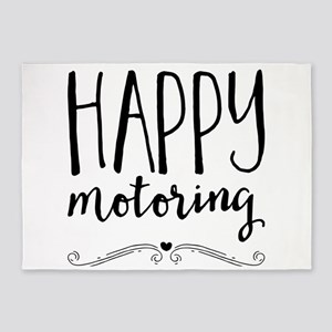 happy motoring 5'x7'Area Rug