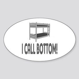 I Call Bottom Oval Sticker