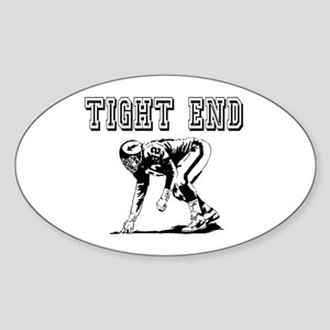 Tight End Oval Sticker