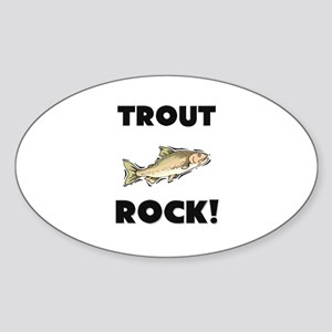 Trout Rock! Oval Sticker