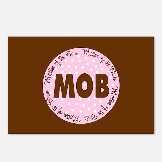 Polka Dot Bride's Mother Postcards (Package of 8)
