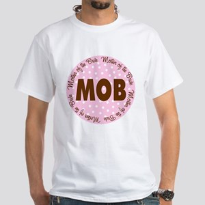 Polka Dot Bride's Mother White T-Shirt