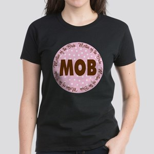 Polka Dot Bride's Mother Women's Dark T-Shirt