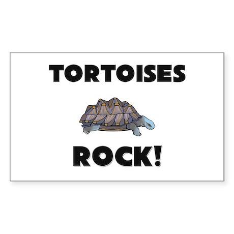 Tortoises Rock! Rectangle Sticker