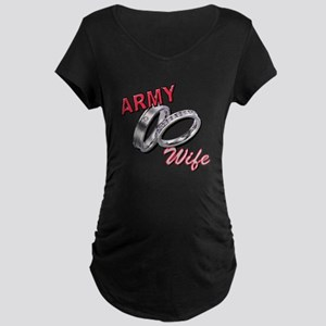 Army Wife Maternity Dark T-Shirt