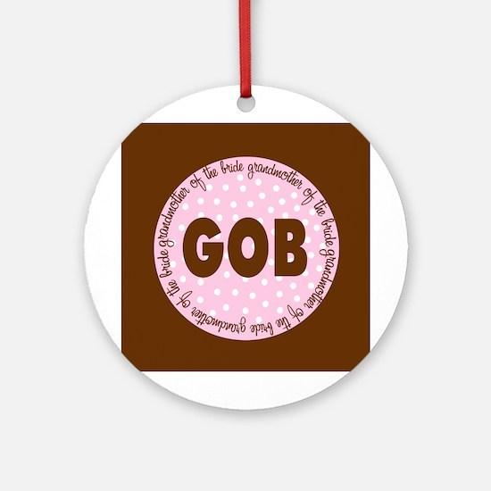 Polka Dot Bride's Grandmother Ornament (Round)