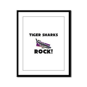 Tiger Sharks Rock! Framed Panel Print