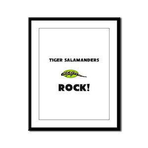 Tiger Salamanders Rock! Framed Panel Print