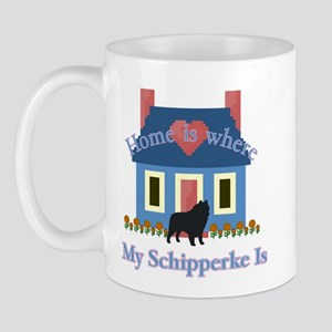 Schipperke Home Is Mug